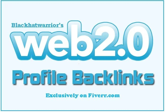 Provide 150 web 2, 0 profile backlinks on high page rank sites