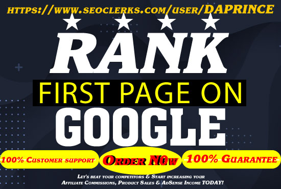 Perfect Whitehat Google Page One Ranking SEO BacklinksServices