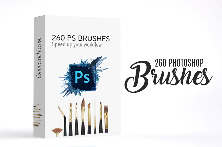 Get 260 Adobe Photoshop Brushes Speed up your workflow