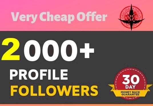 Add 2,000+High Quality Profile Followers Super Fast