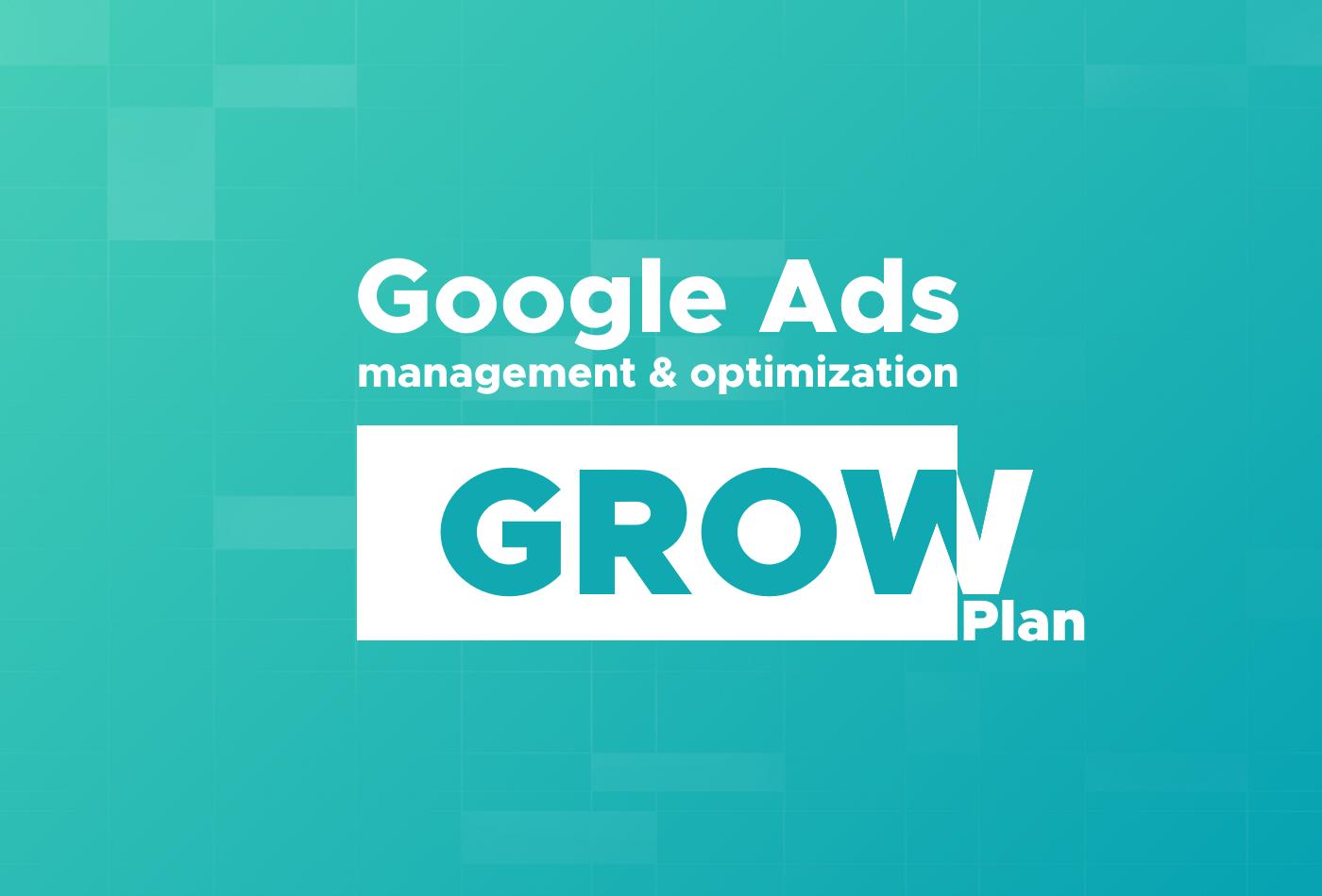 Google Ads management and optimization Grow Plan