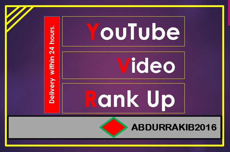 YouTube Video Promotion Non-Drop & HQ,  Fast delivery
