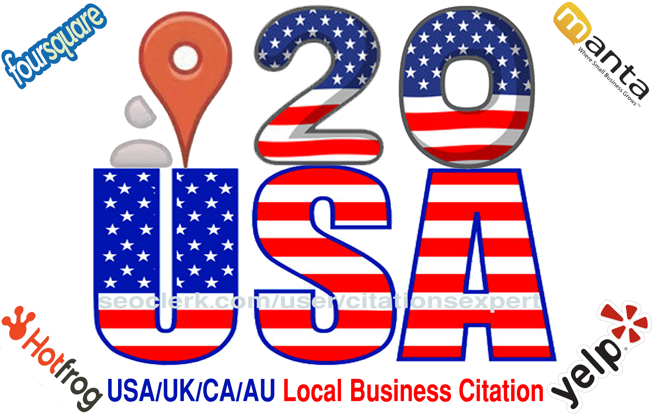 Get Accurate Top 20 Live USA/UK/CA/AU Local Citations for Local SEO