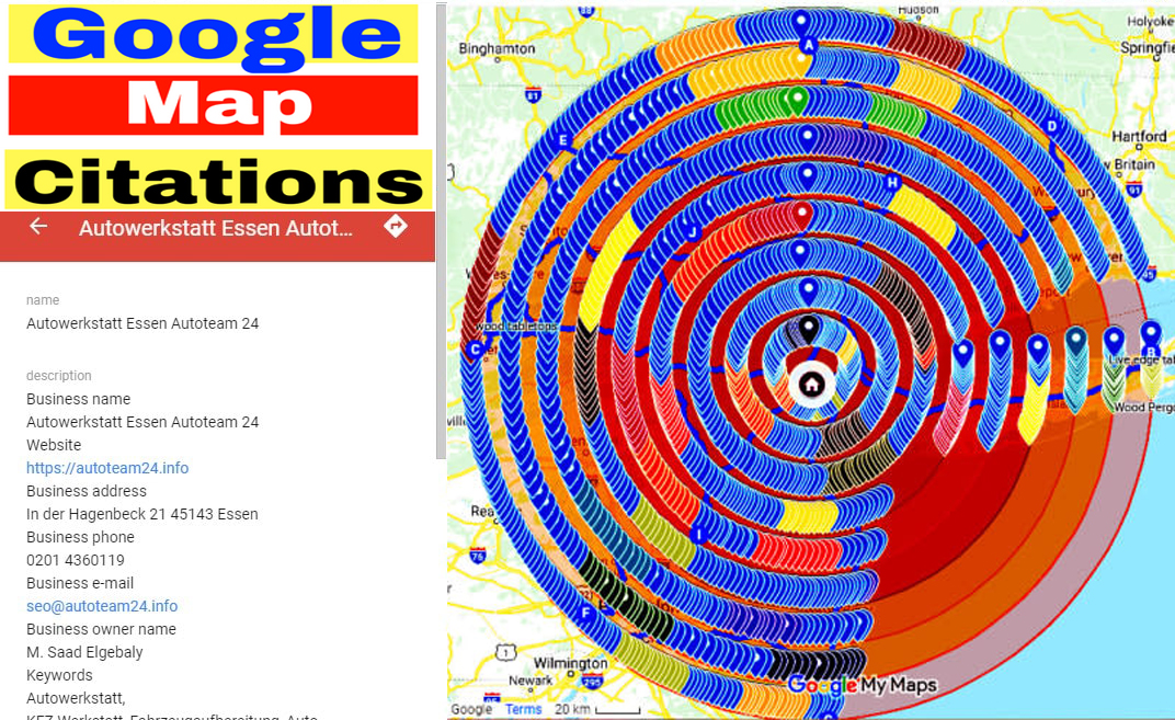 I will Create Manually 4,400 Google map citations for local SEO and GMB ranking