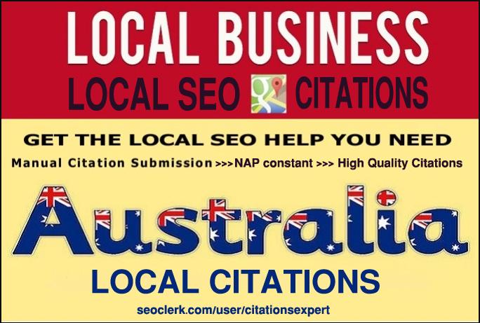 Do Manually TOP 40 Live Local Citations for Australia. Money-Back Guarantee