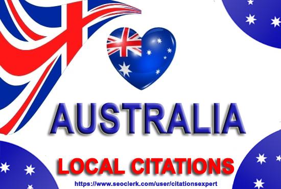I will create 100 best australia local citations. Money-Back Guarantee