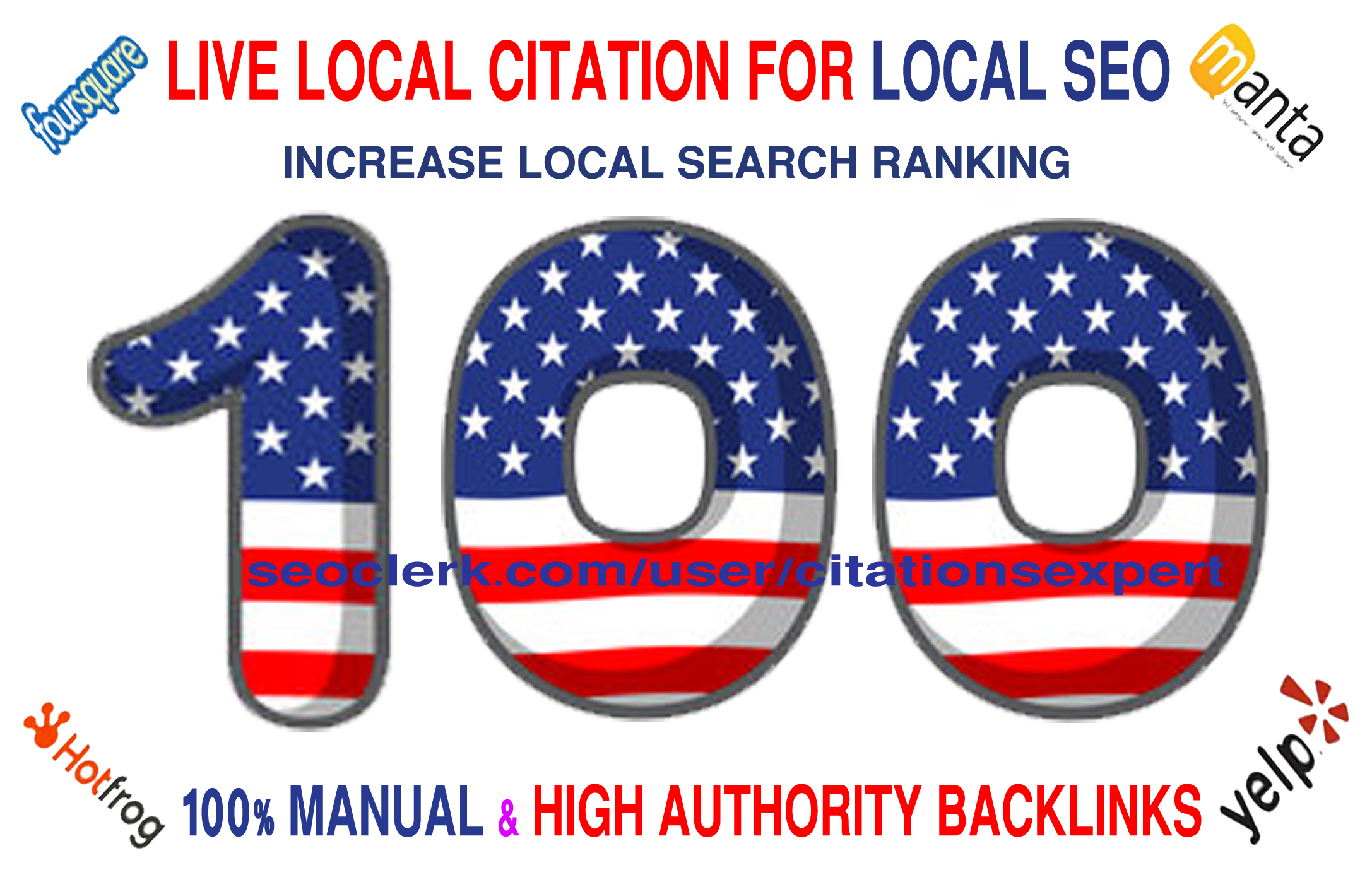 I will Do Manually TOP 100 Live USA Local Citation/Listing for Local SEO. Satisfaction Guaranteed