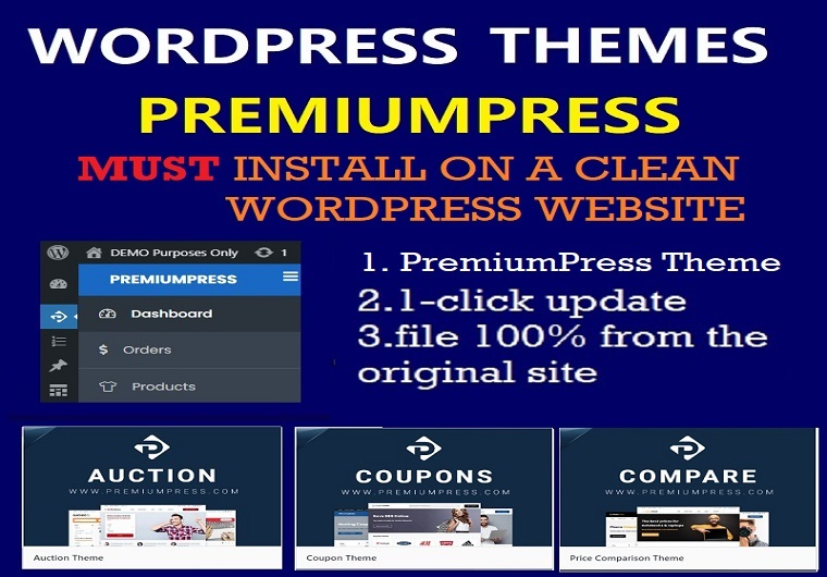 Install PremiumPress WordPress Theme With License Activation