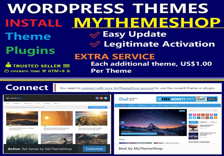 MyThemeShop Theme 1 Year Activation And Renewable For One Website