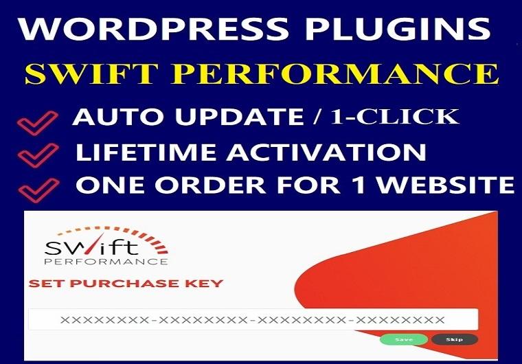 Swift Performance WordPress Plugin [ Activation Type - License/Lifetime ]