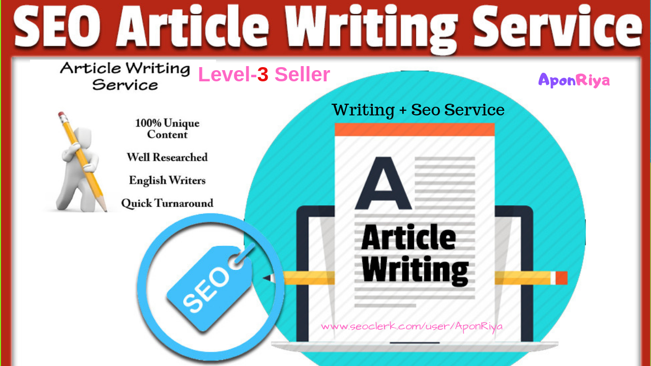 Write A High Quality 500 Word Article With SEO Blog/Article In 3 Days