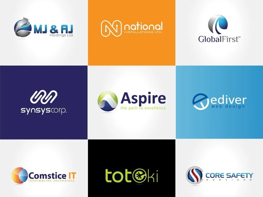 design 3 concept of your Brand Logo with Professionalism