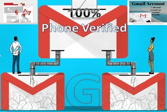 I Will Do Provide Premium 20 Phone Verified Gmail for $20