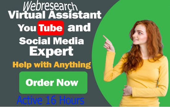 Professional Virtual Assistant You tube And Social Media