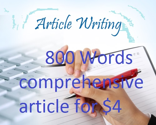 Create 500 words well researched 100% unique content