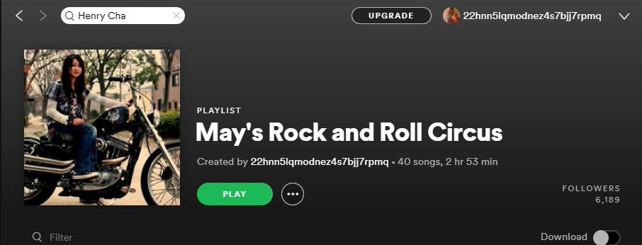 add one song to my Rock/Hardrock Premium playlist.