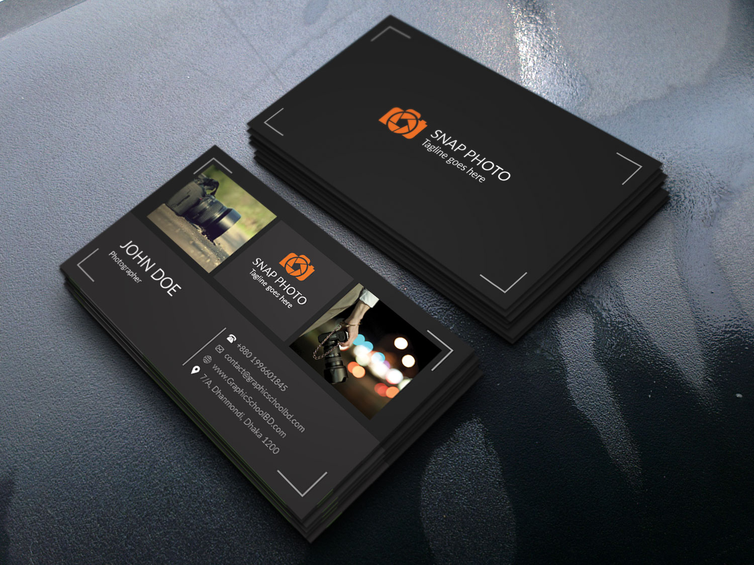 I will design modern simple business card