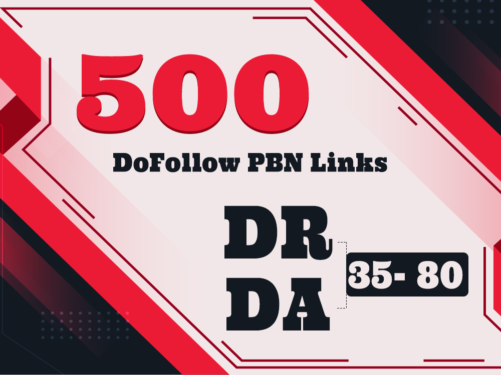 500 Extremely High DR upto 80 DoFollow PBN Links well indexed on ahref