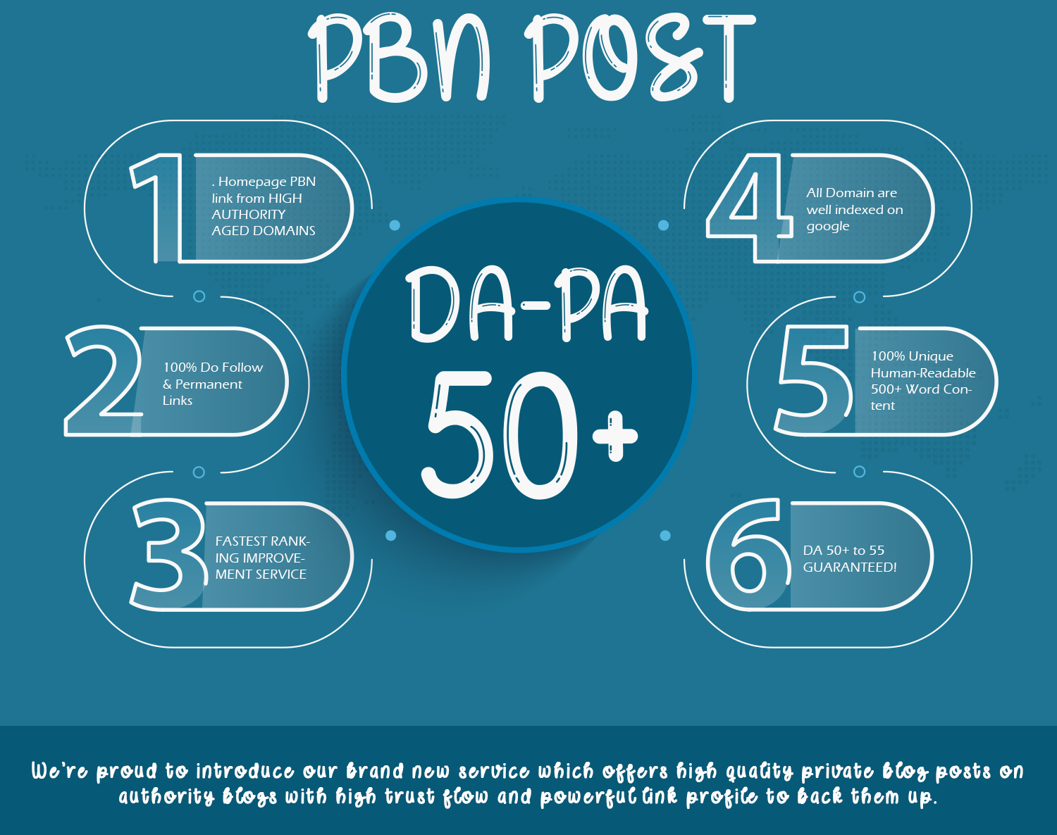 Do 20 DA 50 to 60 Permanent PBN Contextual Backlinks