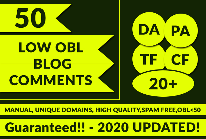 Do 50 LOW OBL Blog Comments Manually