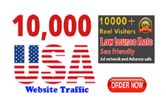 10000 HQ USA Website Traffic For Your Site Or Blog