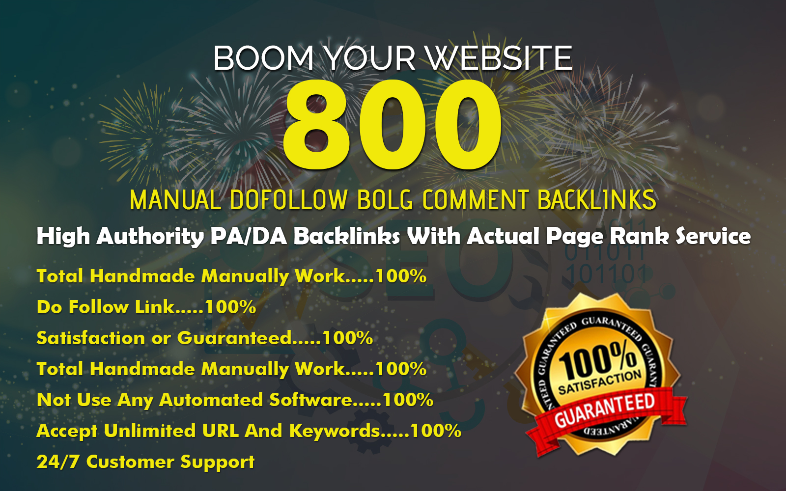 Create Manually 800 High PA & DA Blog Comment Backlinks