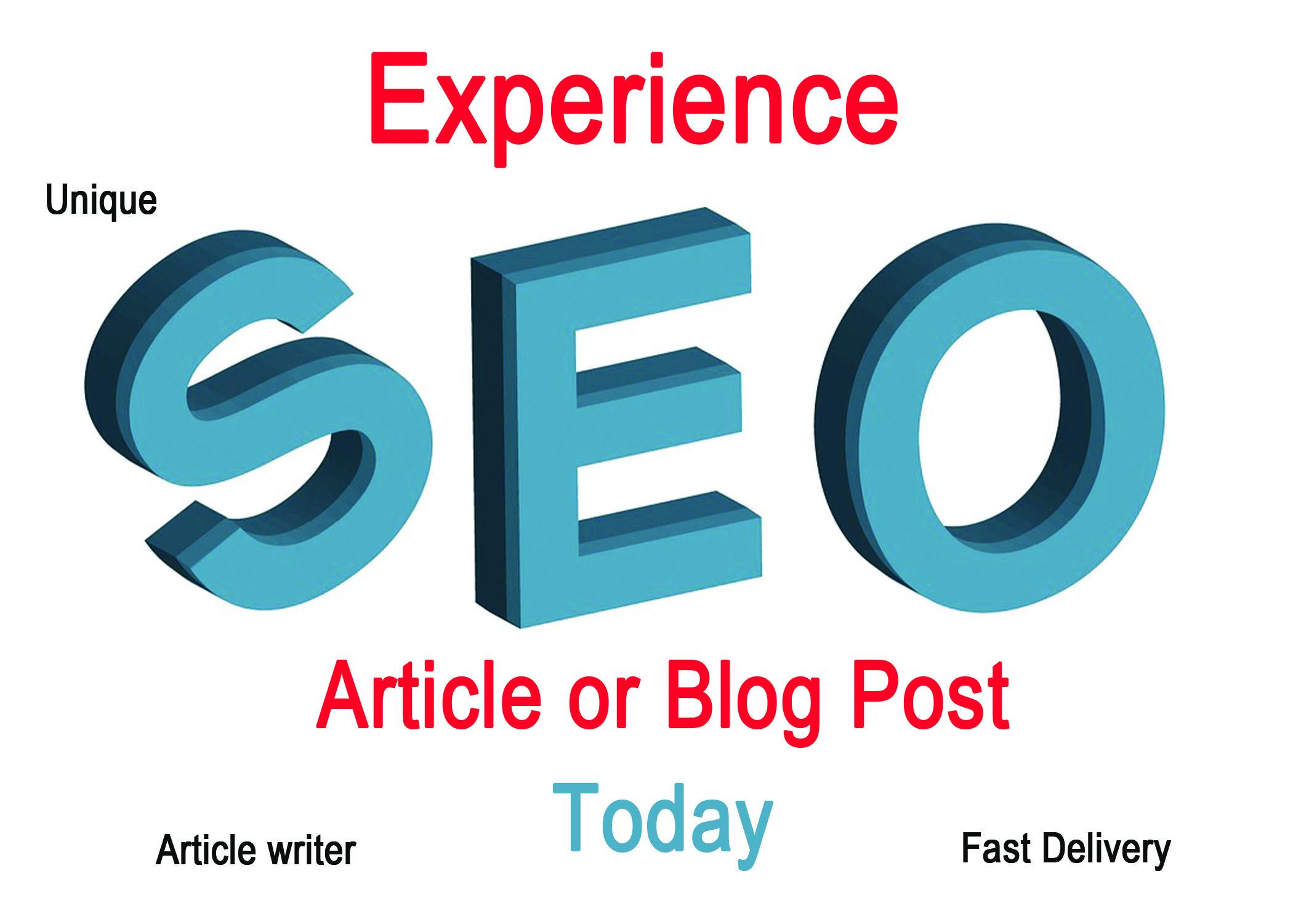 write Original SEO Article of 700 Words