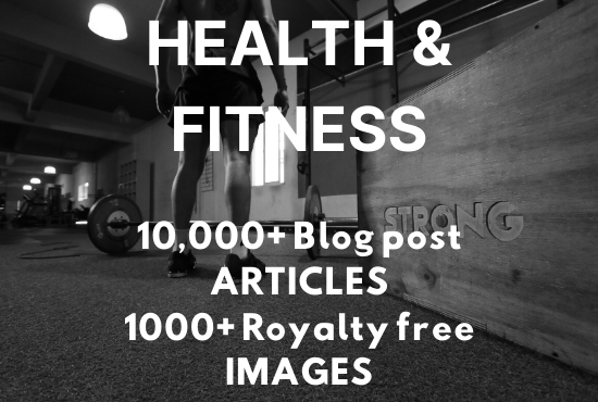 Over 10000 blog post articles and 1000 royalty free stock images related to HEALTH AND FITNESS