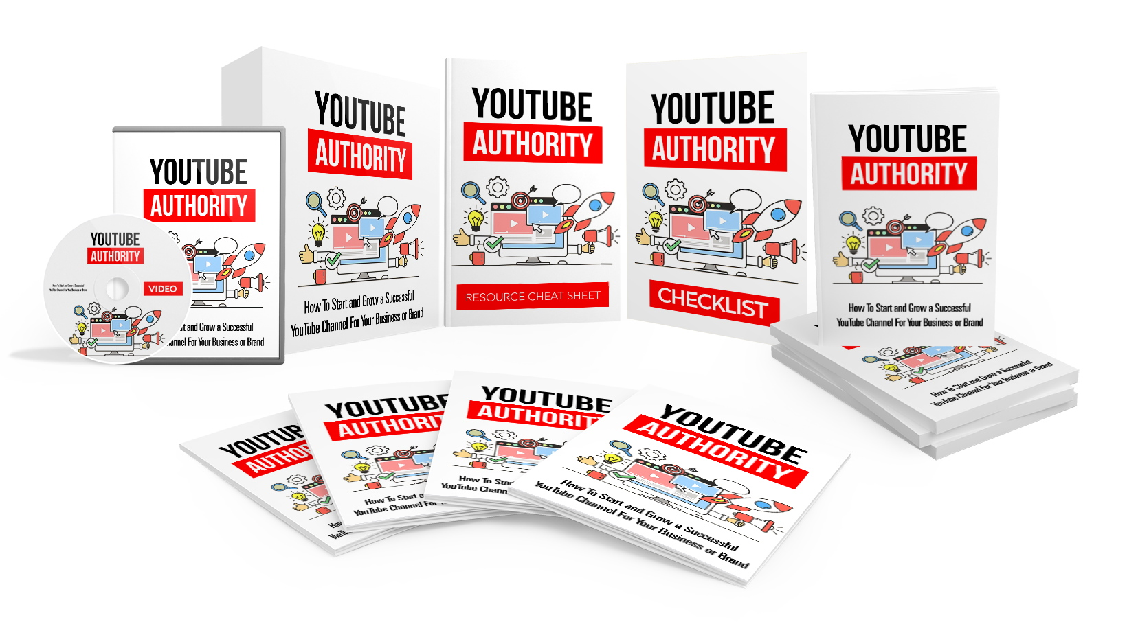 I will give you YouTube Authority,  Video Course with Reselling Tools