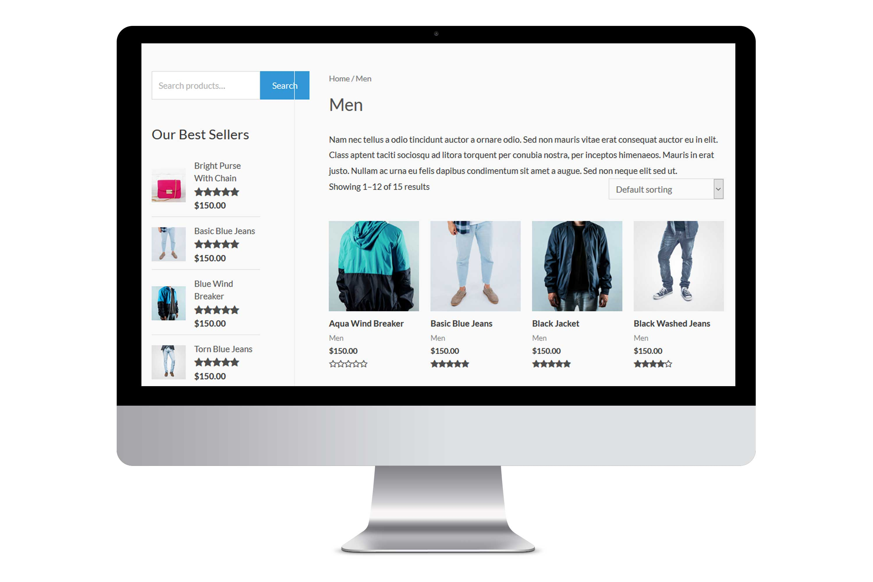 eCommerce Online store website