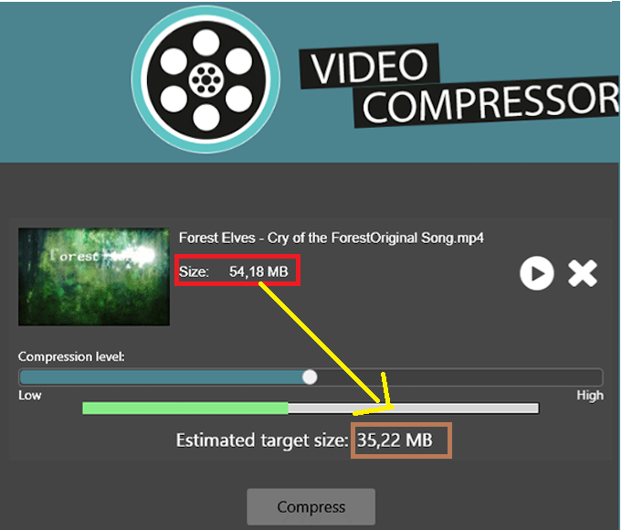 compress large unlimited size video to any format