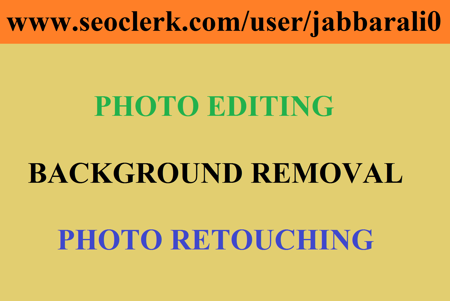 Any Photo Editing-Background Removal-Crop-Resize Professionally