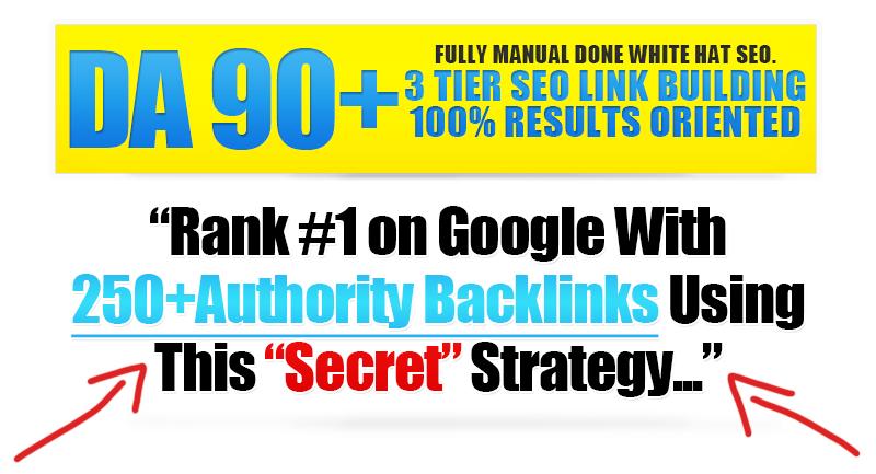 250 High DA/PA 3 Tier Manual Link Pyramid For Top Google Ranking