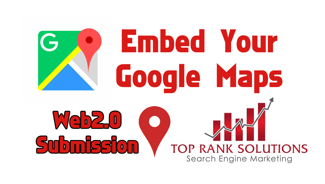 embed your google maps in 2500 web2.0 sites to get Local Ranking