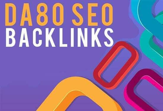 create 10 high authority seo backlinks from DA 80