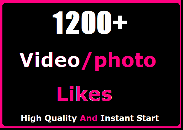1200+ Likes In Social High Quality And Instant