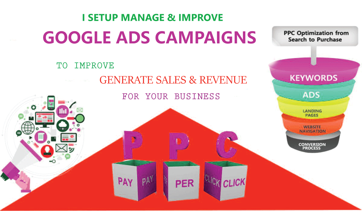 I will setup and manage google ads adwords PPC campaigns to improve sales