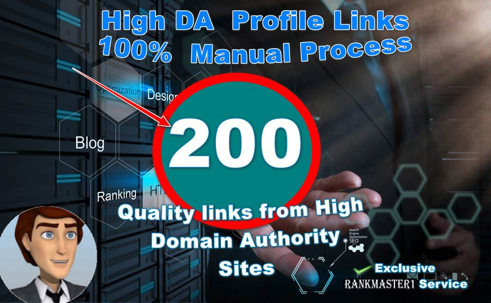 I Will Manually Create 200 Profile Links From PR9, Blogs, EDU. Bookmark, WikiHigh Domain Authority Sites