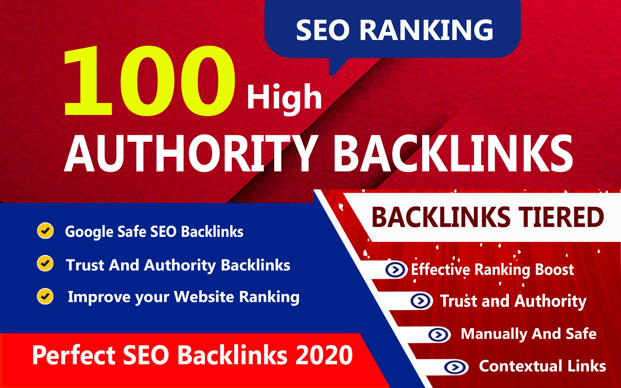 I will create 100 High-Quality Unique Domain SEO Backlink on high dr 100 sites Boost your Website's