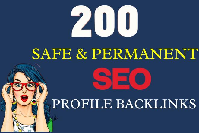 I will Make 200 Permanent Dofollow High Domain Authority SEO profile backlinks