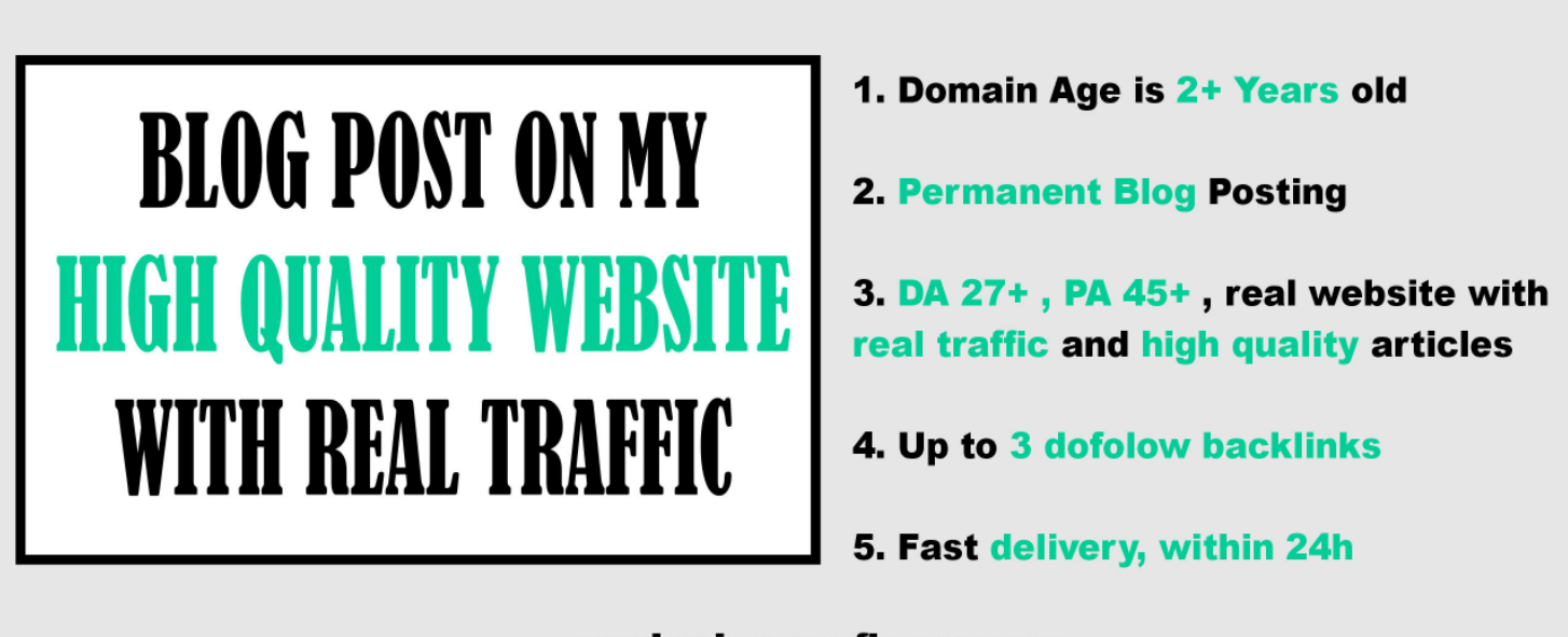 blog post on my high quality general website with real traffic