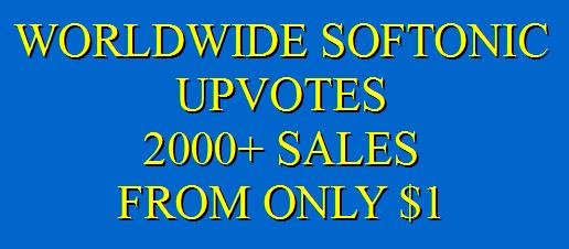 Safe Softonic upvotes promotion instantly