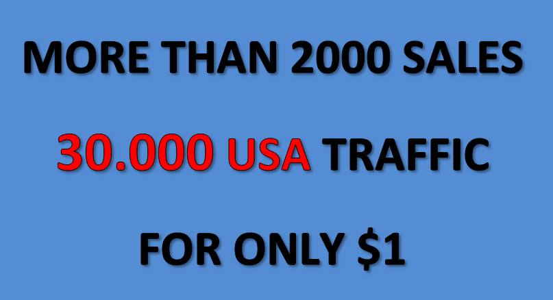 (Cheapest offer) 30.000 USA targeted traffic