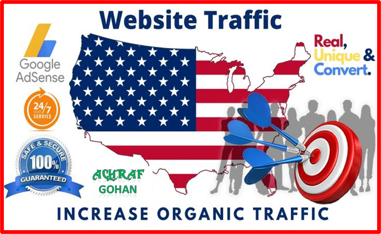 2000 + USA Targeted High-Quality Traffic Good For Ranking & Safe For Your Adsense
