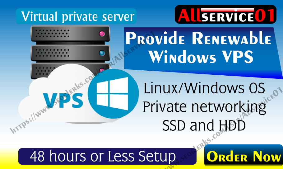 Provide Renewable USA Rdp Windows VPS Along 2GB Ram