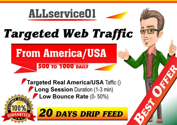 TARGETED Real America-USA Web Traffic