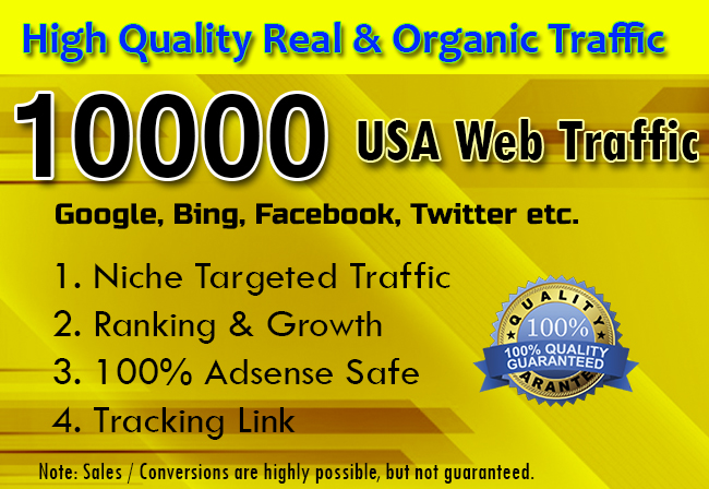I will drive targeted web traffic from social media with Low Bounce Rate