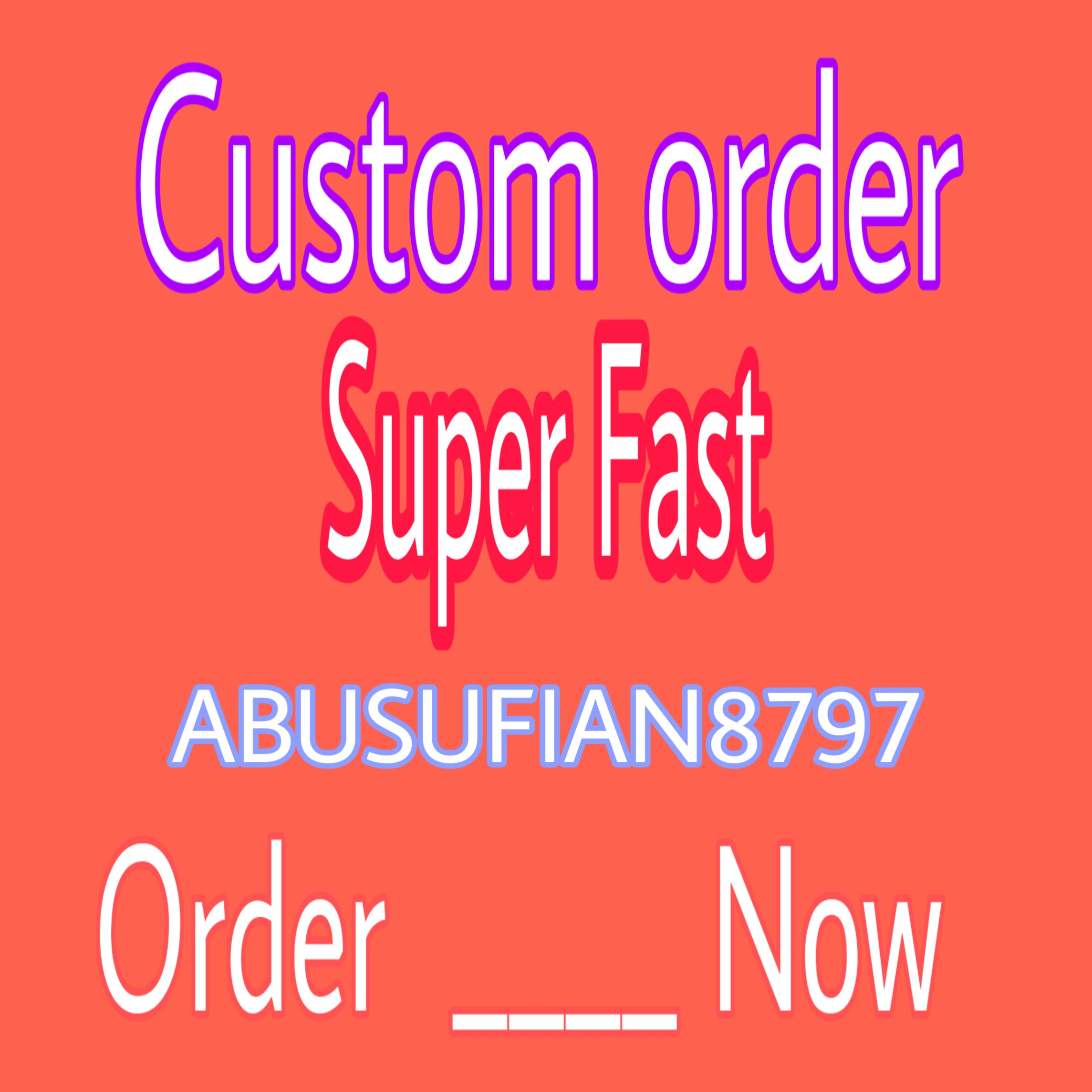 Natural Link or Customs order Any working