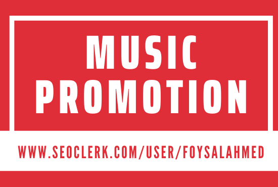 Get Music Promotion Service And High Quality Result
