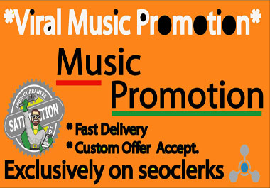Best Music Promotion Strategy And Manual Work In 3 Days Delivery